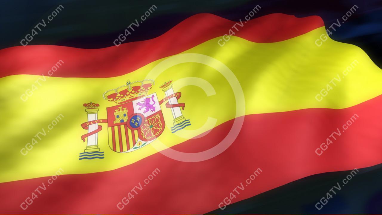 spanish flag 3d animation cg4tv com