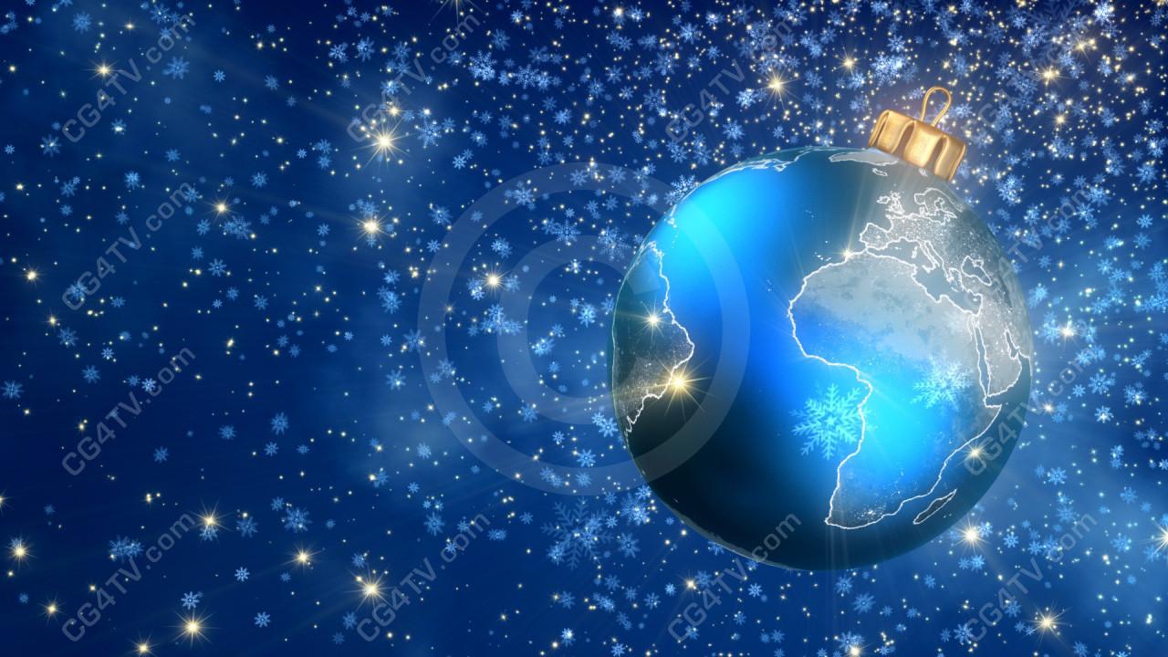 Christmas Ball 3d Stock Animation