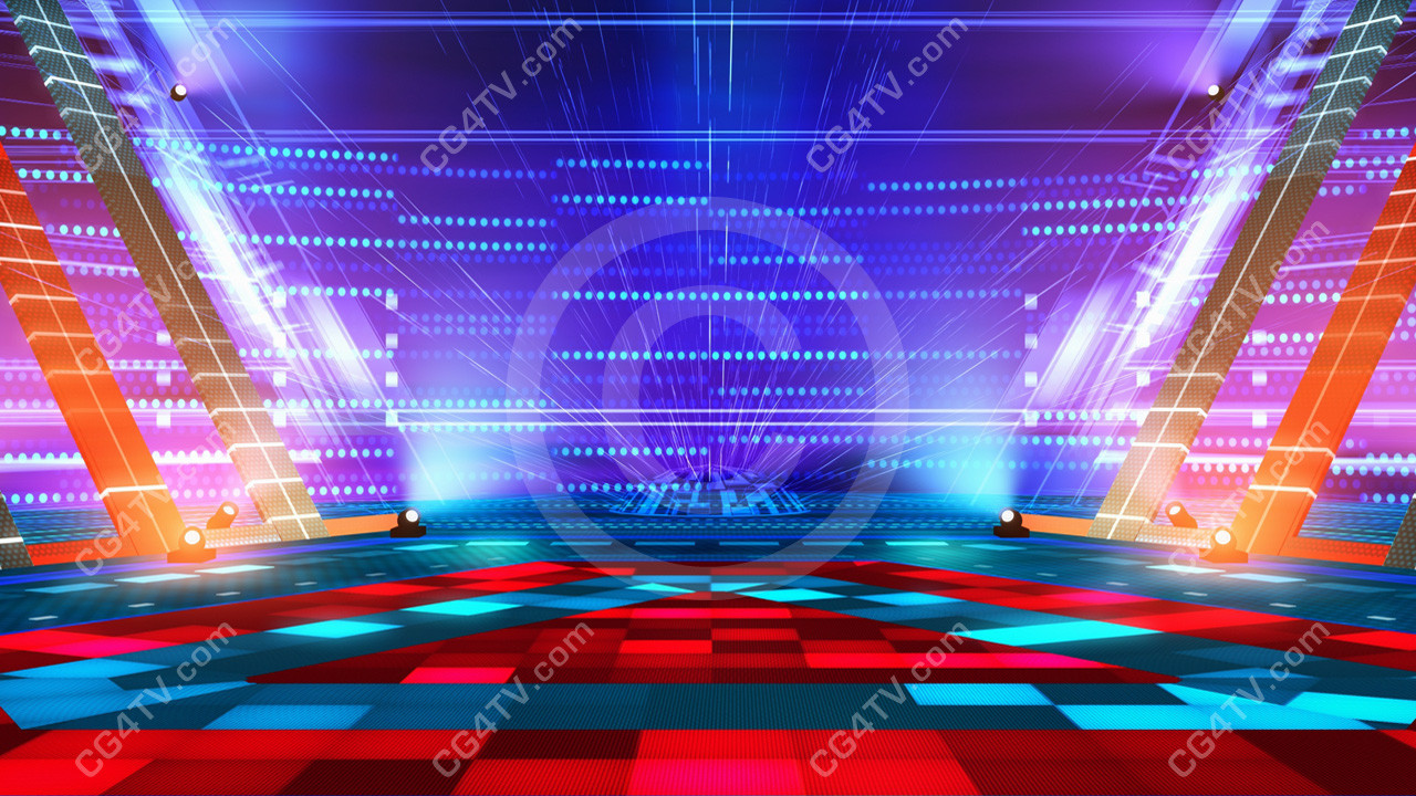 Dance stage virtual set camera 2 for 1234 get on the dance floor video download