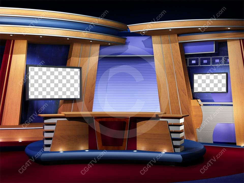 Camera 2 Classic Virtual News Studio Backdrop