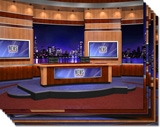 News Virtual Studio Set for two anchors high resolution