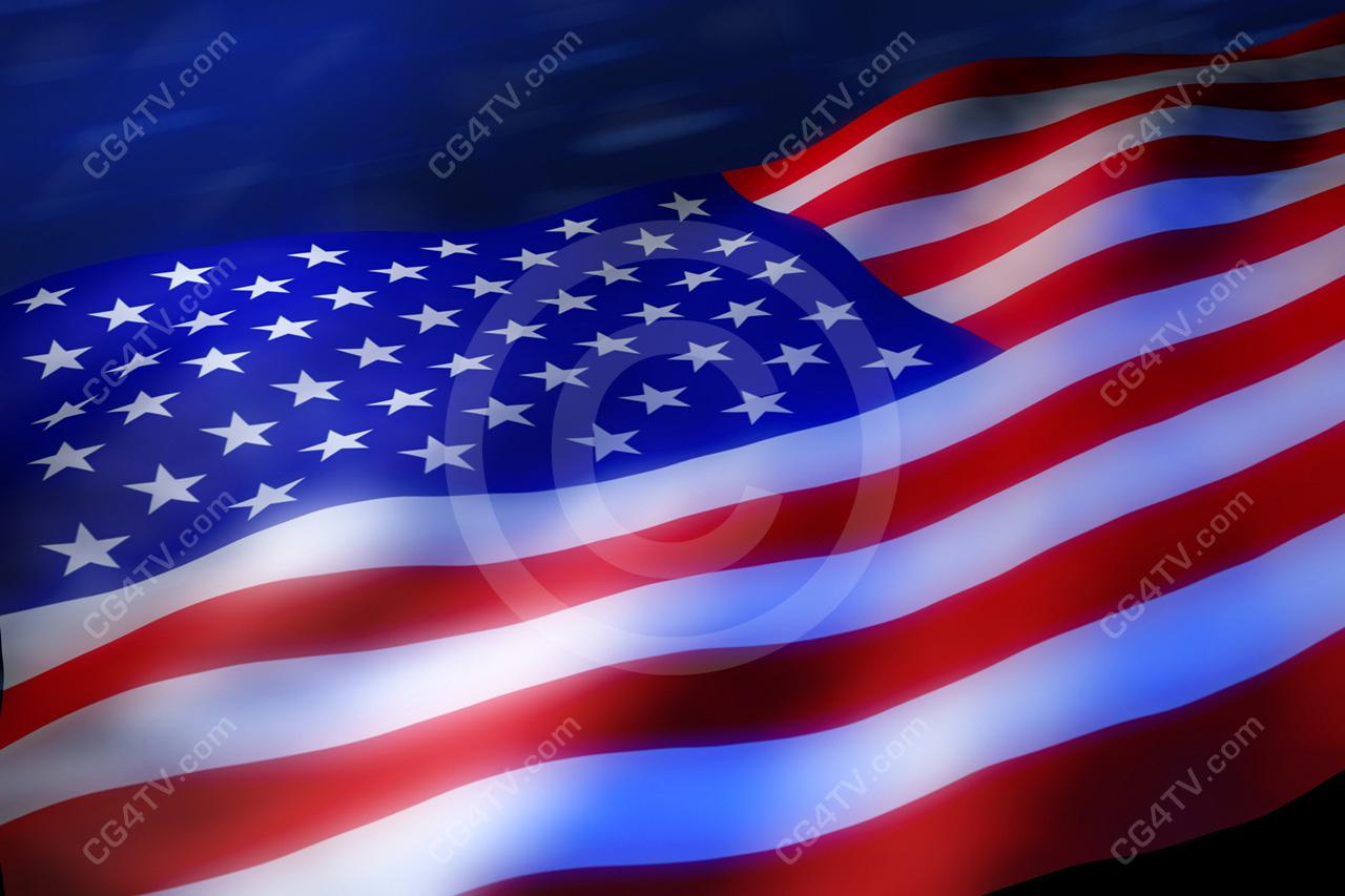 High Resolution Flag: American Flag 3D High Resolution Royalty Free Image