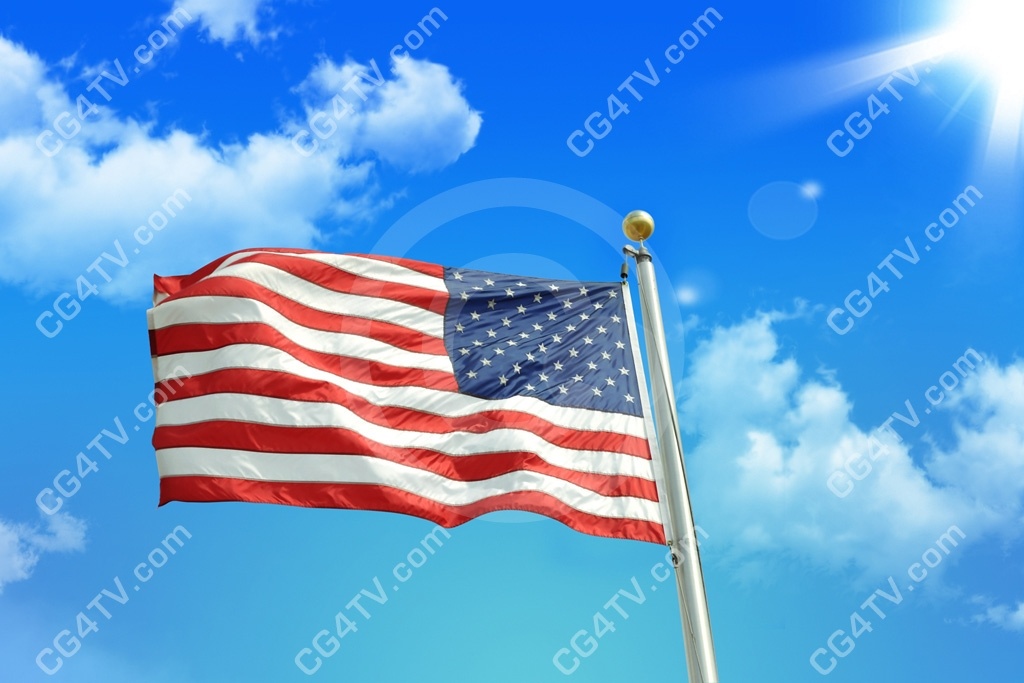 United States American Flag Royalty Free Stock Photo