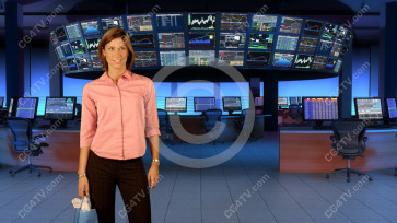 Financial News Virtual Set Large Camera 2