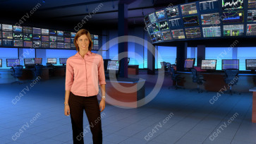 Financial News Virtual Set Camera 5