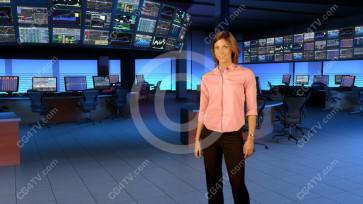 Financial News Virtual Set  Large Camera 8