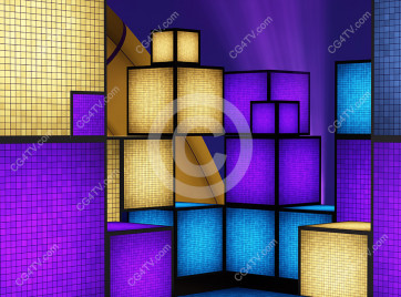 Cubes abstract background virtual