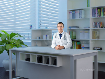 Doctor's Office Virtual Green Screen Background