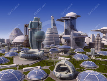 Future city picture high resolution