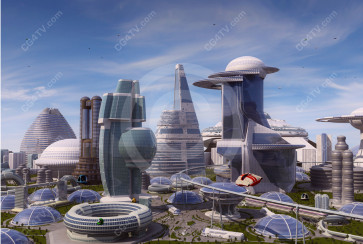 Future City Design High Resolution Image