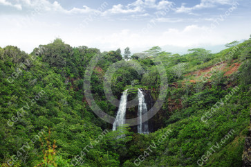 Landscape with waterfall picture
