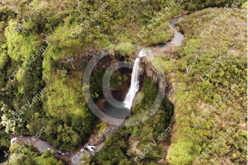 Waterfall Kauai, Aerial - Hanapepe Valley