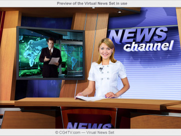 Preview of the Virtual News Set in use