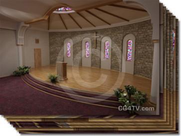Church Virtual Set