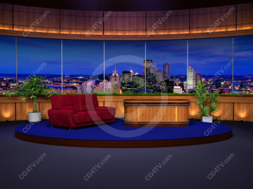 Classic Talk Show Virtual Set -- Camera 1