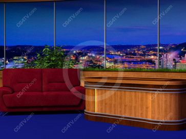 Classic Talk Show Virtual Set -- Camera 6