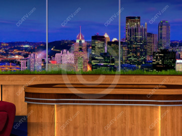 Classic Talk Show Virtual Set -- Camera 7