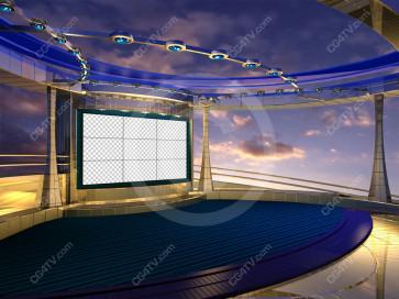 Situation Room Virtual Set Camera 4 high resolution