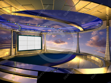 Situation Room Virtual Set  Camera 8 high resolution