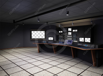 Control Room Virtual Set