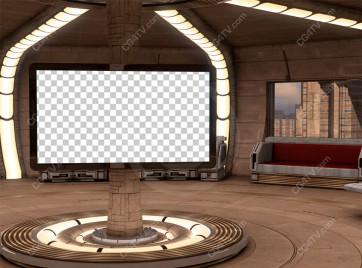 Future City Interior Background -- Camera 6