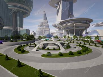Future City Virtual Set -- Camera 1