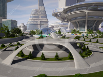 Future City Virtual Set -- Camera 2
