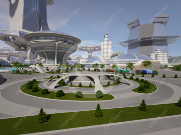 Future City Virtual Set -- Camera 5