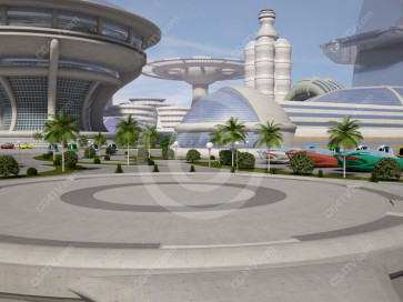 Future City Virtual Set -- Camera 7