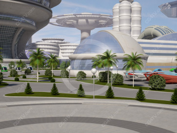Future City Virtual Set -- Camera 8