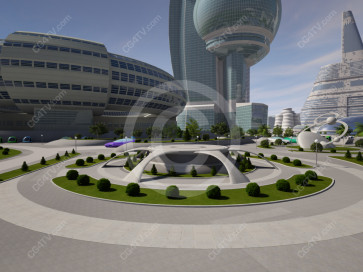 Future City Virtual Set -- Camera 9