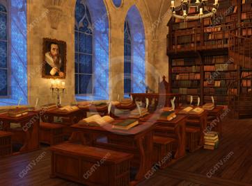 School of Magic Virtual Set -- Camera 3