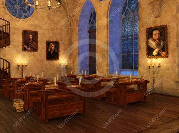 School of Magic Virtual Set -- Camera 4