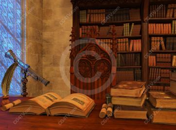 School of Magic Virtual Set -- Camera 7