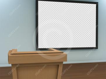 Lecture Virtual Set -- Camera 4