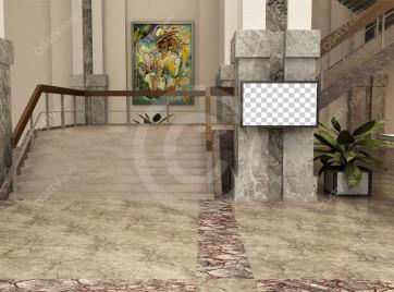Lobby Virtual Set -- Camera 8