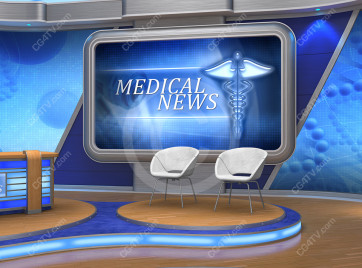 Medical News Virtual Set -- Camera 10