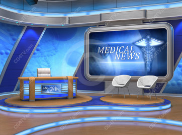 Medical News Virtual Set
