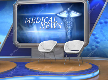 Medical News Virtual Set -- Camera 5