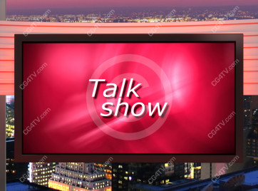 Talk Show Virtual Set Red -- Camera 9 high resolution