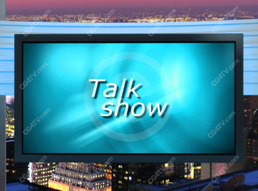 Talk Show Virtual Set Turquoise -- Camera 9 high resolution