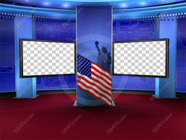 Political News Virtual Set Camera 1 high resolution
