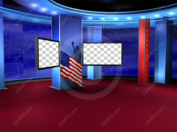 Political News Virtual Set Camera 10 high resolution