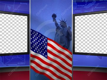 Political News Virtual Set Camera 11 high resolution