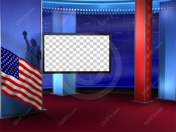 Political News Virtual Set Camera 4 high resolution
