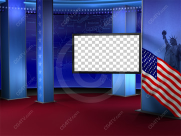 Political News Virtual Set Camera 5 high resolution