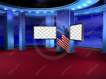 Political News Virtual Set Camera 9 high resolution