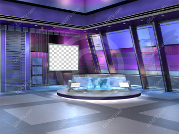 Flex Virtual News Set -- Camera 1