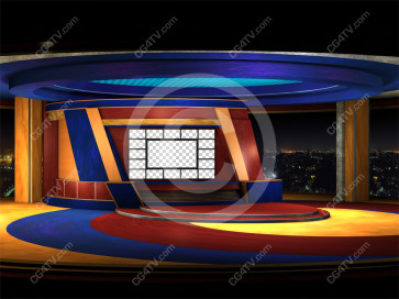 Multi Screen News Set -- Camera 1b