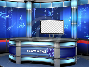 Sport Virtual Studio Set Blue -- Camera 8